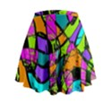 Abstract Sketch Art Squiggly Loops Multicolored Mini Flare Skirt View2