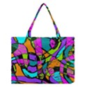 Abstract Sketch Art Squiggly Loops Multicolored Medium Tote Bag View1