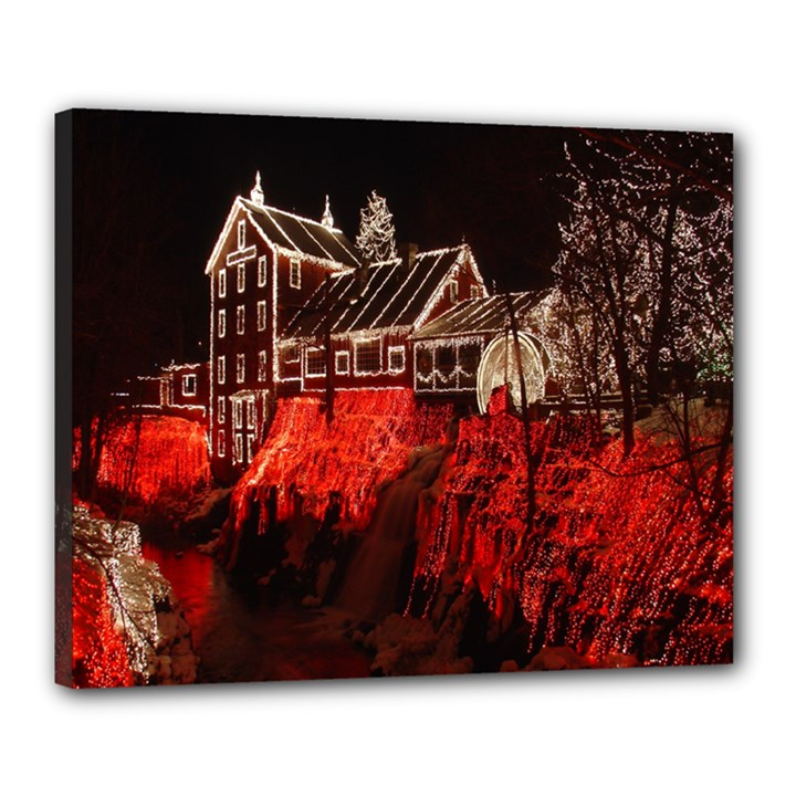 Clifton Mill Christmas Lights Canvas 20  x 16