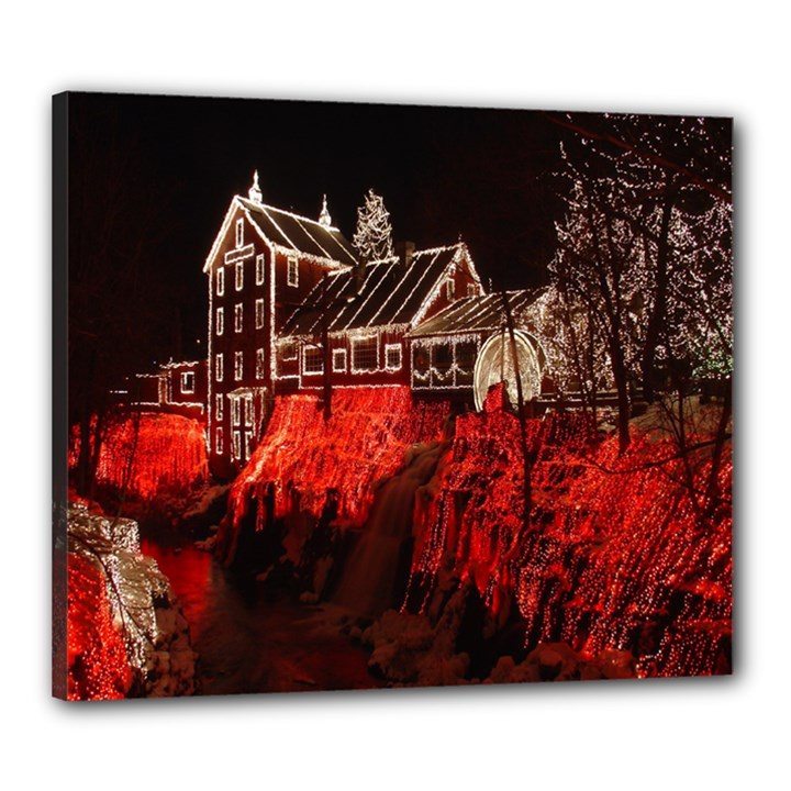 Clifton Mill Christmas Lights Canvas 24  x 20