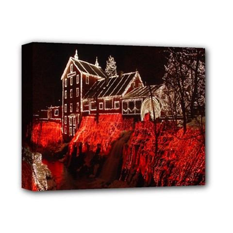 Clifton Mill Christmas Lights Deluxe Canvas 14  x 11