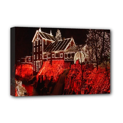 Clifton Mill Christmas Lights Deluxe Canvas 18  x 12
