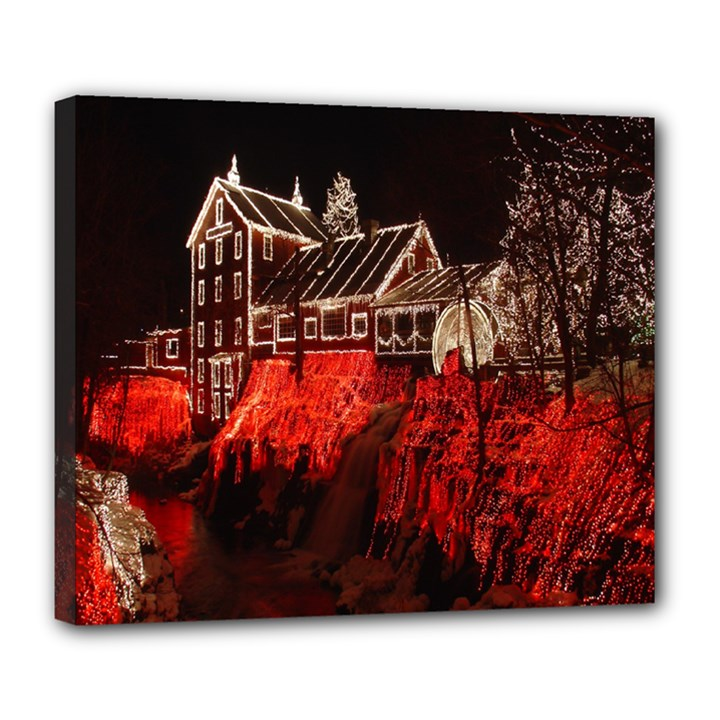 Clifton Mill Christmas Lights Deluxe Canvas 24  x 20