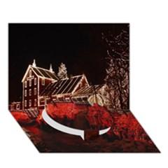 Clifton Mill Christmas Lights Circle Bottom 3D Greeting Card (7x5)
