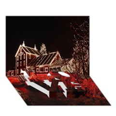 Clifton Mill Christmas Lights LOVE Bottom 3D Greeting Card (7x5)
