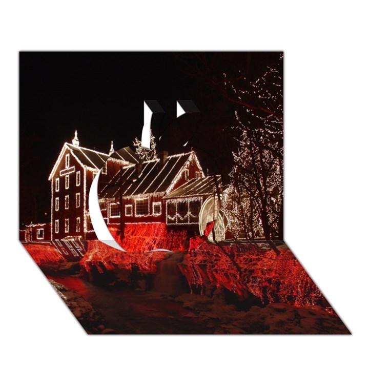 Clifton Mill Christmas Lights Apple 3D Greeting Card (7x5)