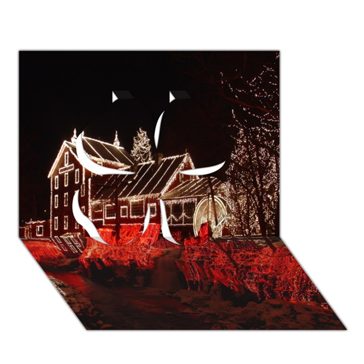 Clifton Mill Christmas Lights Clover 3D Greeting Card (7x5)