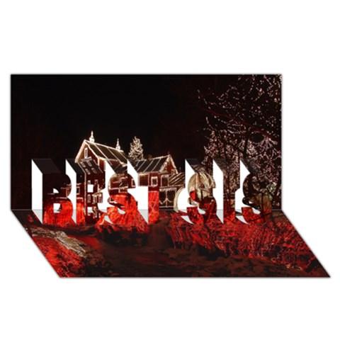 Clifton Mill Christmas Lights BEST SIS 3D Greeting Card (8x4)