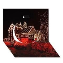 Clifton Mill Christmas Lights Circle 3D Greeting Card (7x5)