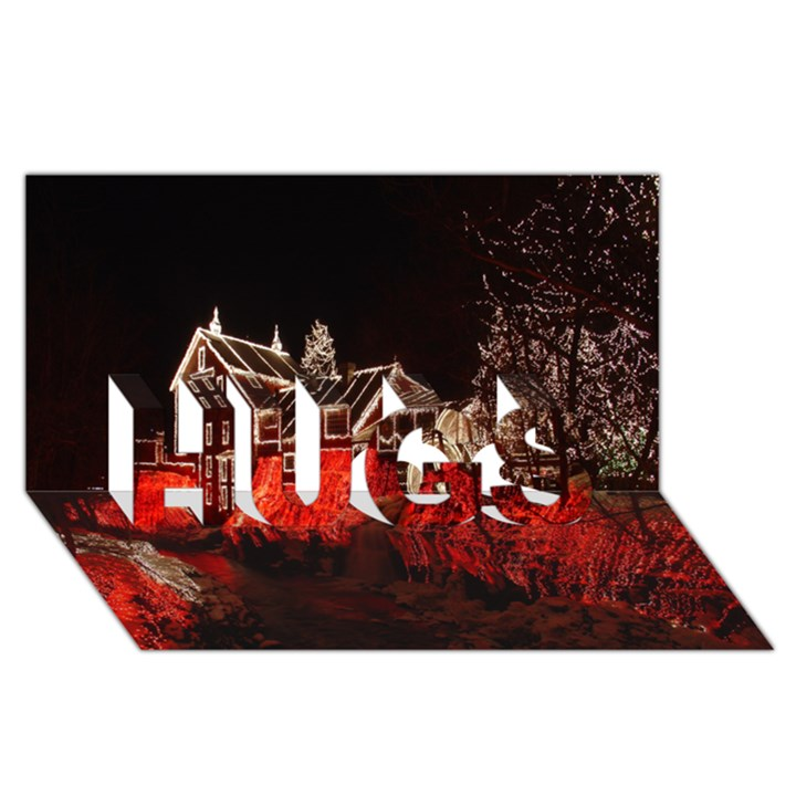 Clifton Mill Christmas Lights HUGS 3D Greeting Card (8x4)