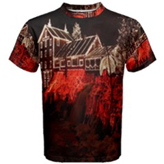 Clifton Mill Christmas Lights Men s Cotton Tee