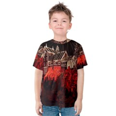 Clifton Mill Christmas Lights Kids  Cotton Tee
