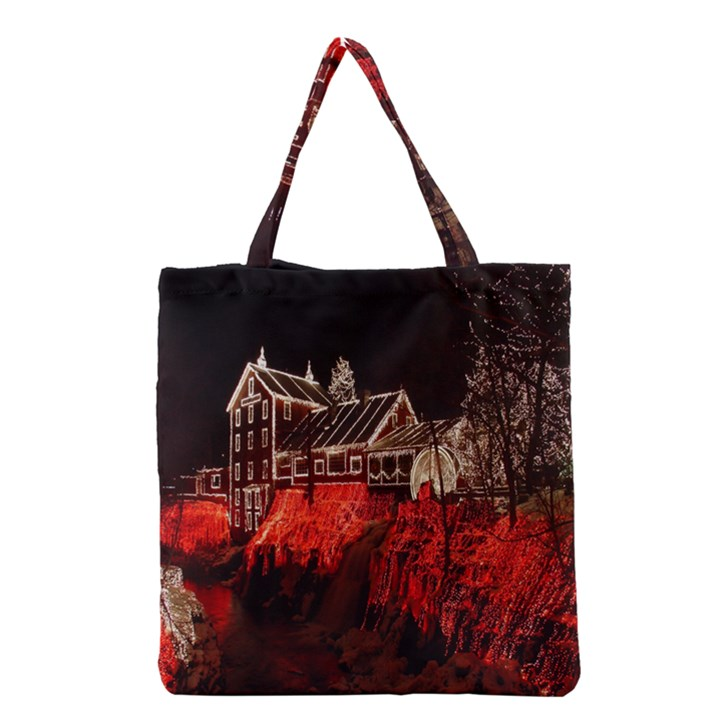 Clifton Mill Christmas Lights Grocery Tote Bag