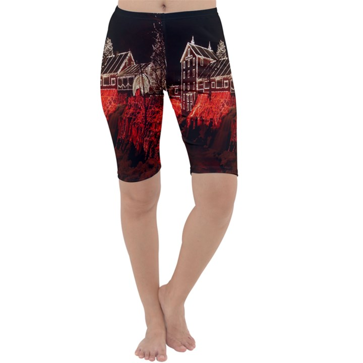 Clifton Mill Christmas Lights Cropped Leggings