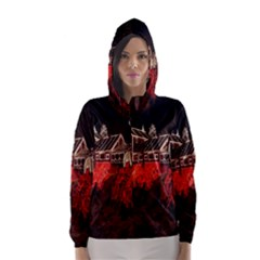 Clifton Mill Christmas Lights Hooded Wind Breaker (Women)