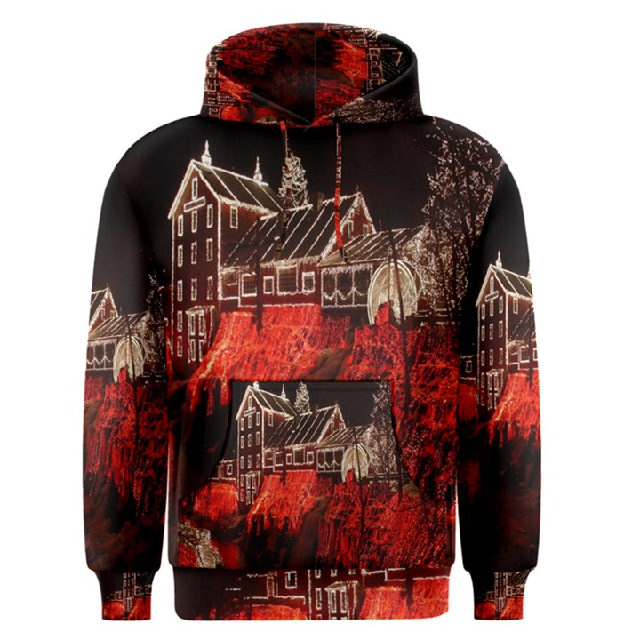 Clifton Mill Christmas Lights Men s Pullover Hoodie