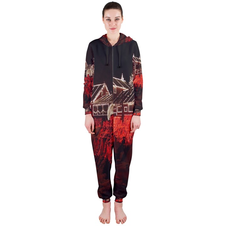 Clifton Mill Christmas Lights Hooded Jumpsuit (Ladies)
