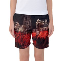Clifton Mill Christmas Lights Women s Basketball Shorts