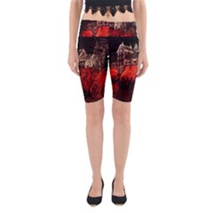 Clifton Mill Christmas Lights Yoga Cropped Leggings