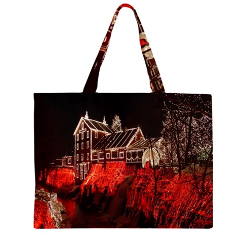 Clifton Mill Christmas Lights Large Tote Bag