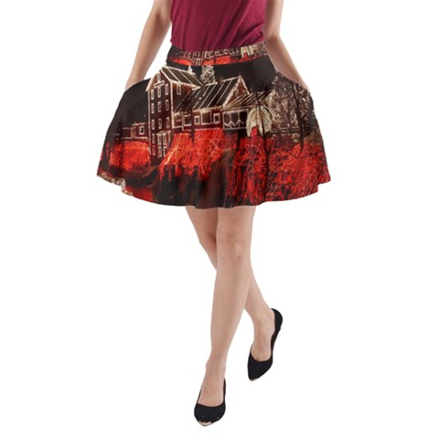 Clifton Mill Christmas Lights A-Line Pocket Skirt