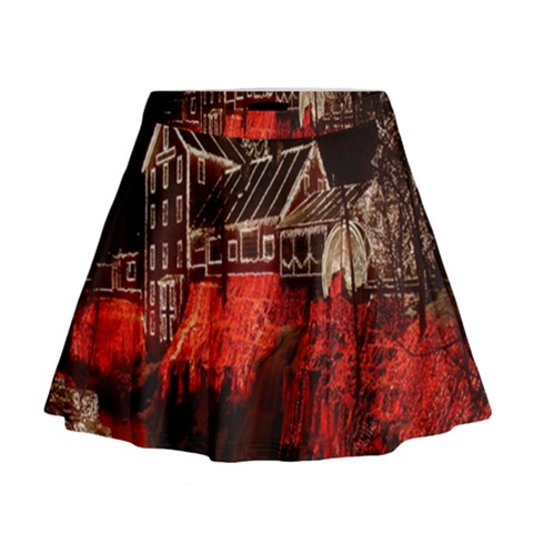 Clifton Mill Christmas Lights Mini Flare Skirt