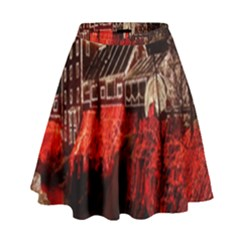 Clifton Mill Christmas Lights High Waist Skirt