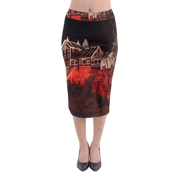 Clifton Mill Christmas Lights Midi Pencil Skirt