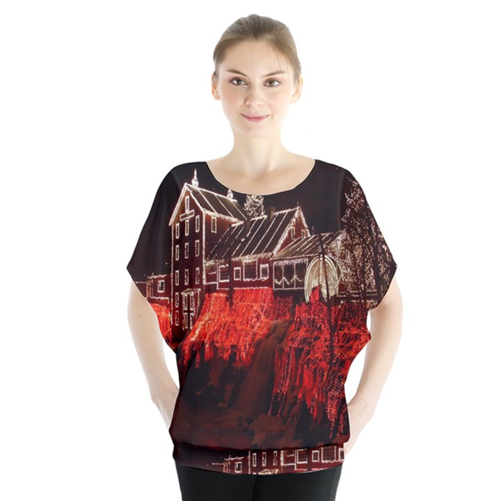 Clifton Mill Christmas Lights Blouse