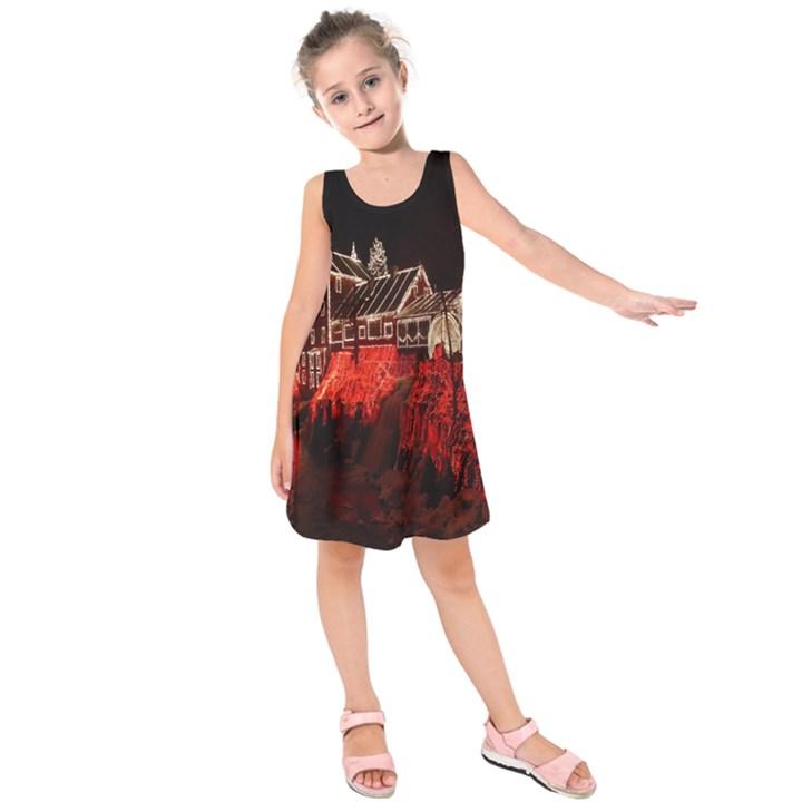Clifton Mill Christmas Lights Kids  Sleeveless Dress