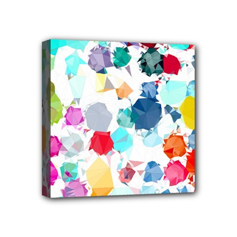 Colorful Diamonds Dream Mini Canvas 4  x 4