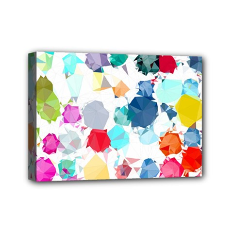 Colorful Diamonds Dream Mini Canvas 7  X 5