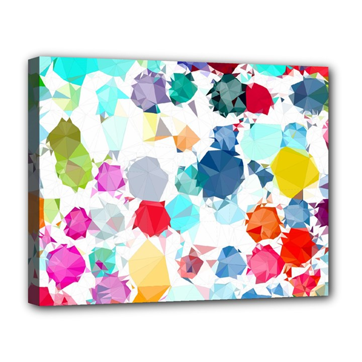 Colorful Diamonds Dream Canvas 14  x 11