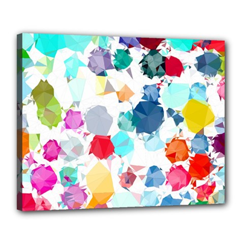 Colorful Diamonds Dream Canvas 20  X 16