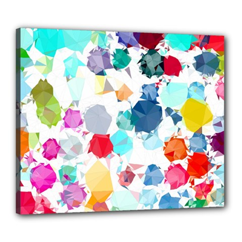 Colorful Diamonds Dream Canvas 24  x 20