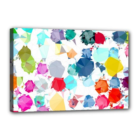 Colorful Diamonds Dream Canvas 18  X 12