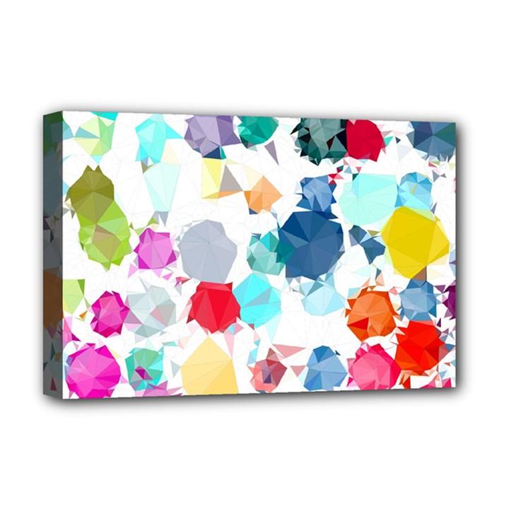 Colorful Diamonds Dream Deluxe Canvas 18  x 12