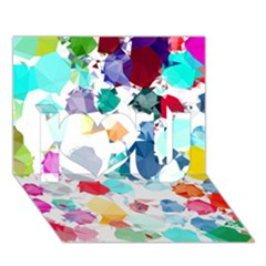 Colorful Diamonds Dream I Love You 3d Greeting Card (7x5)