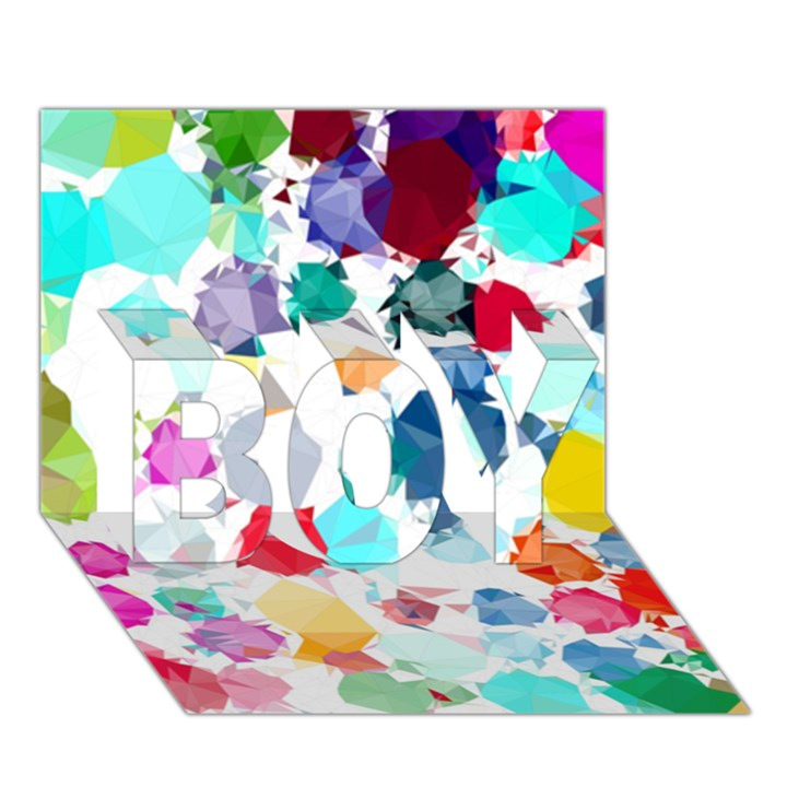 Colorful Diamonds Dream BOY 3D Greeting Card (7x5)
