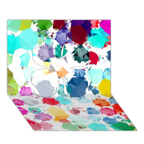 Colorful Diamonds Dream Clover 3D Greeting Card (7x5)