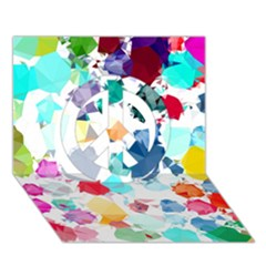 Colorful Diamonds Dream Peace Sign 3d Greeting Card (7x5)