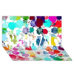 Colorful Diamonds Dream #1 DAD 3D Greeting Card (8x4)