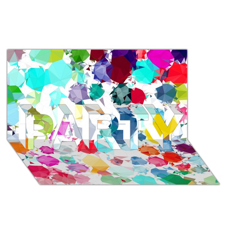 Colorful Diamonds Dream PARTY 3D Greeting Card (8x4)
