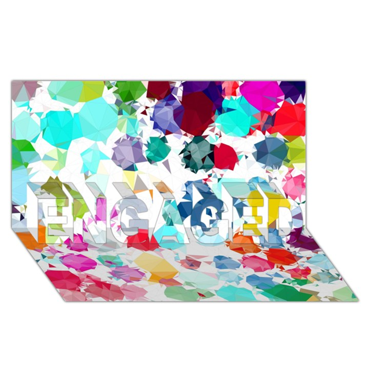 Colorful Diamonds Dream ENGAGED 3D Greeting Card (8x4)