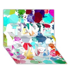 Colorful Diamonds Dream TAKE CARE 3D Greeting Card (7x5)