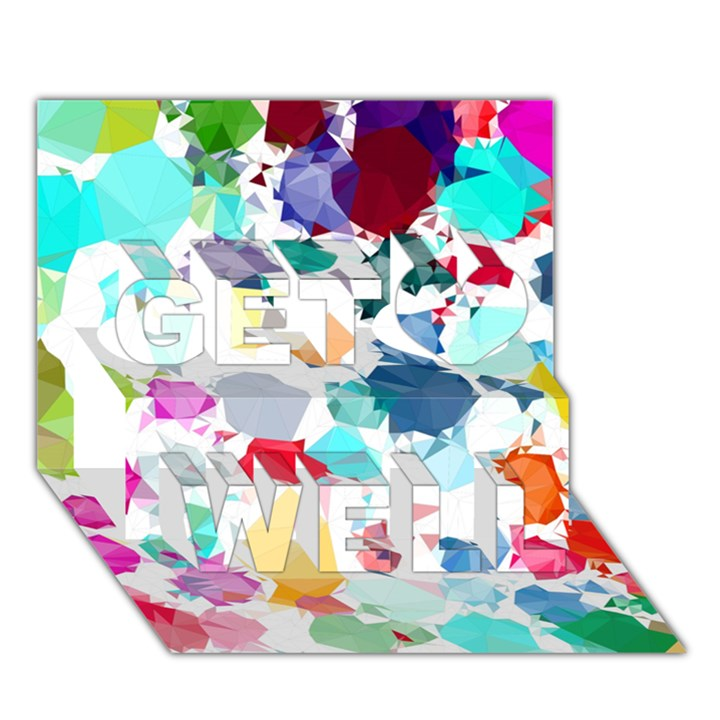 Colorful Diamonds Dream Get Well 3D Greeting Card (7x5)