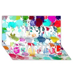 Colorful Diamonds Dream Congrats Graduate 3d Greeting Card (8x4)