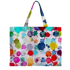 Colorful Diamonds Dream Zipper Mini Tote Bag