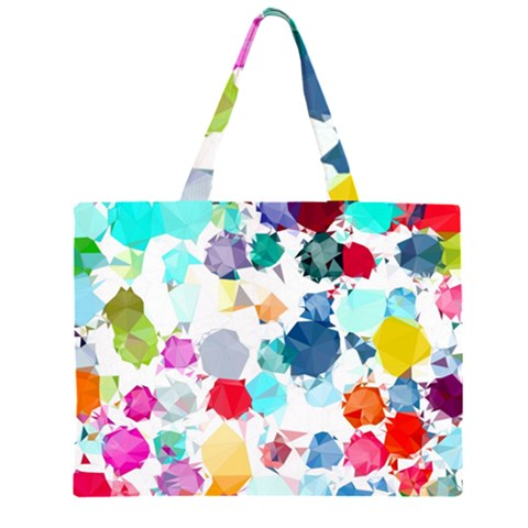 Colorful Diamonds Dream Large Tote Bag