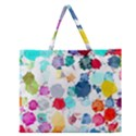 Colorful Diamonds Dream Zipper Large Tote Bag View1